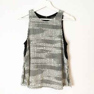 ASTR Black And Off White Layered Tank Small
